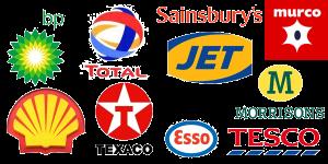 UK petrol station company logos